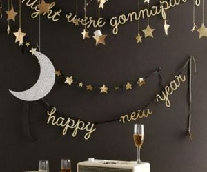 happy new year, party, and decoration image