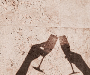 drink, champagne, and shadow image