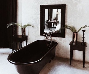 bathroom, black, and home image