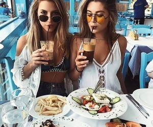 friends, food, and friendship image