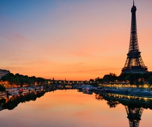 france, paris, and water image