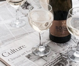 champagne, drink, and wine image