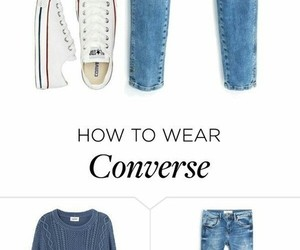 casual, converse, and style image