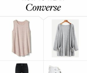 casual, converse high, and path image