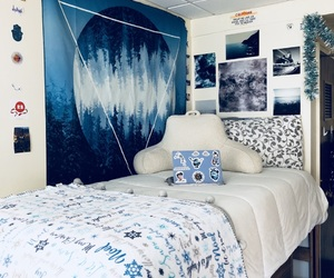 bed, decor, and trendy image