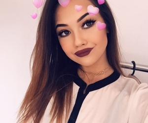 babe, hair, and lipstick image