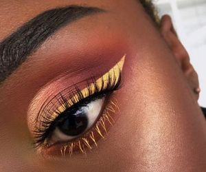 look, makeup, and yellow image