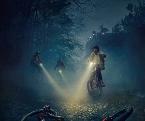 stranger things, background, and wallpaper image