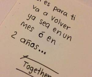 love, frases, and together image