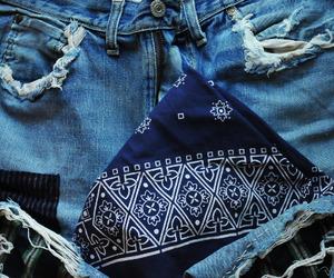 bandana, indigo, and blue image