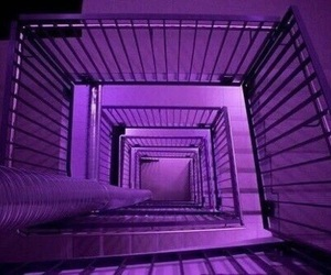 purple, stairs, and aesthetic image