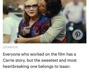 carrie fisher, sw, and oscar isaac image
