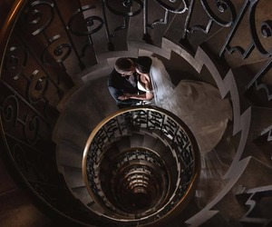 brown, spiral, and staircase image