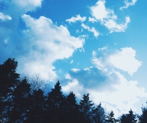 blue, outside, and clouds image