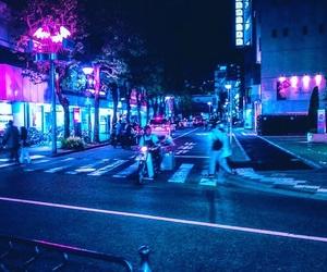 city, night, and tokyo image