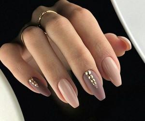 elegante, nail art, and nails image