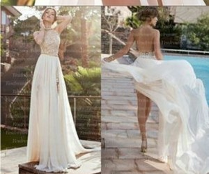 blanco, dress, and vestido image