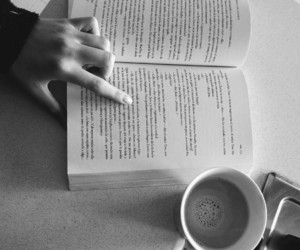 book, love, and coffee image