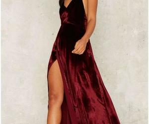 prom dress, dress, and red image