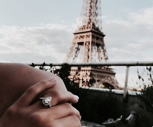 paris, ring, and travel image