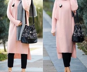 sweater dress hijab image