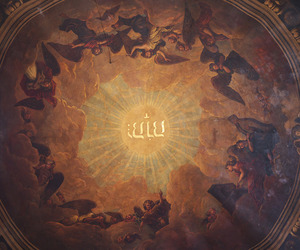 ceiling, church, and dome image