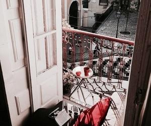home, balcony, and coffee image