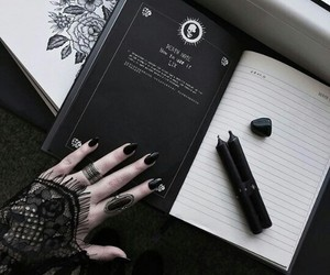 witch, black, and book image