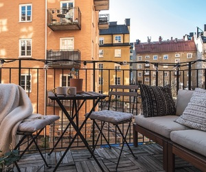 balcony, home, and relax image