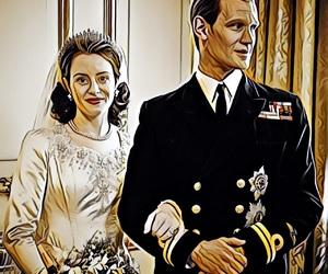 the crown, elizabeth ii, and duke of edinburgh image