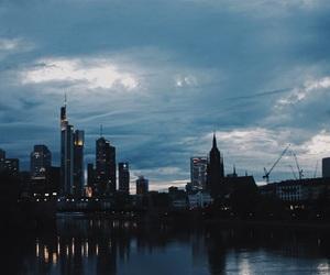 frankfurt, night, and germany image