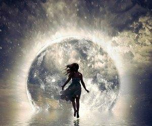 full moon water and moonwalker shadow goddess image