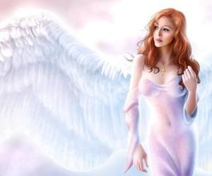 redhead angel wing image