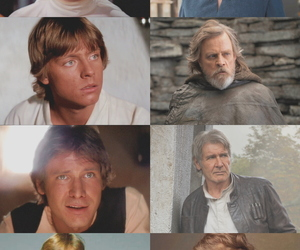 han solo, luke skywalker, and movies image