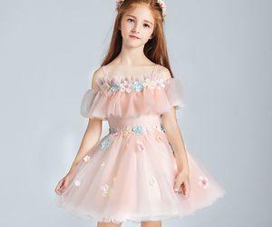 little girl, off the shoulder, and short dress image