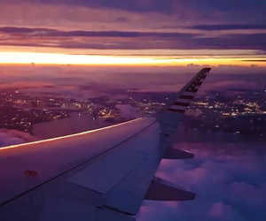 aesthetic, Flying, and lights image