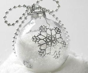 christmas, silver, and snowflake image