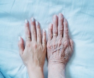 hands, old, and blue image