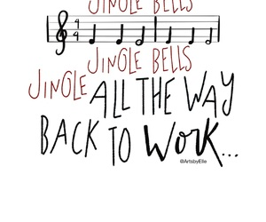 christmas, lettering, and music image