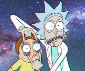 aesthetic, twitter header, and rick and morty image