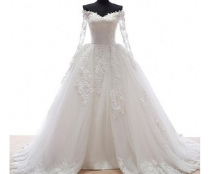 dress, gown, and wedding dress image