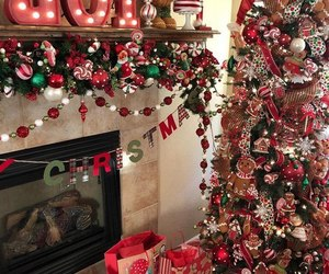 candy cane, christmas, and decor image