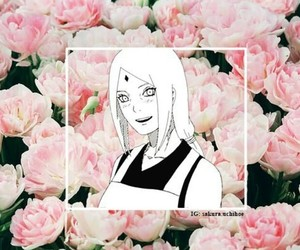 anime, background, and flowers image