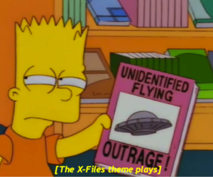 bart, the simpsons, and ufo image