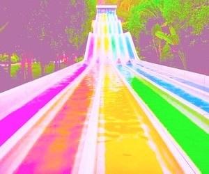 rainbow, slides, and vibrant image