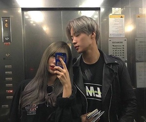 couple, girl, and asian image