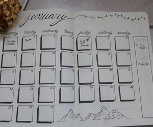 calendar, draw, and gold image