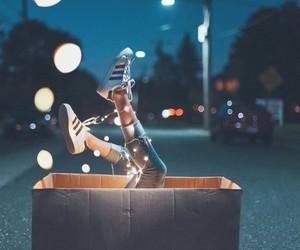 light, adidas, and night image