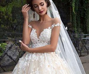 wedding, dress, and perfect image