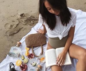 beach, books, and camera image